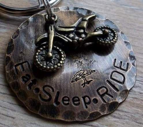 Eat. Sleep. RIDE -Dirtbike/Motocross- Keychain