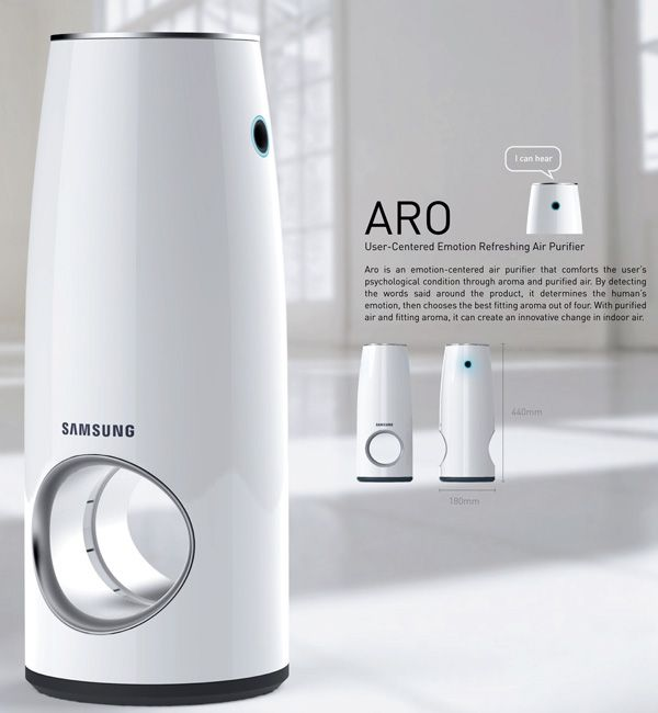 The Aro is a very well designed air purifier that focuses on the user experience and innovation. It features mood lights and aroma dispensing based on