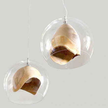 decovry.com - Slow Wood | Transparante Teca Lamp