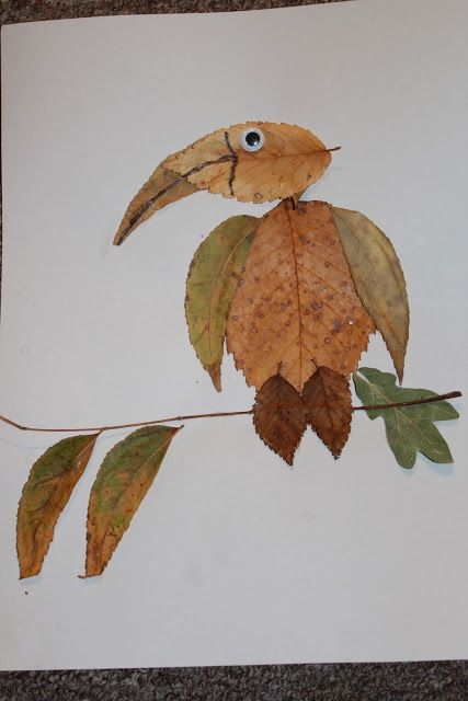 Make pictures with leaves @Pascale Lemay Lemay Lemay Lemay De Groof