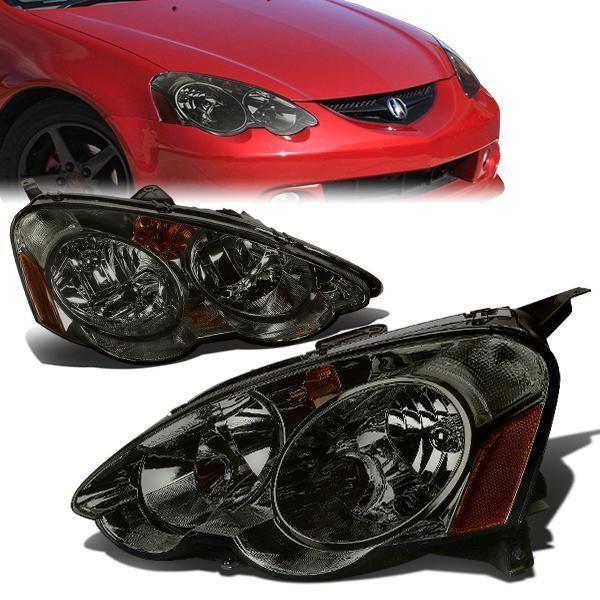 02 04 Acura Rsx Headlights Smoked Housing Amber Corner Acura Rsx Acura Headlights