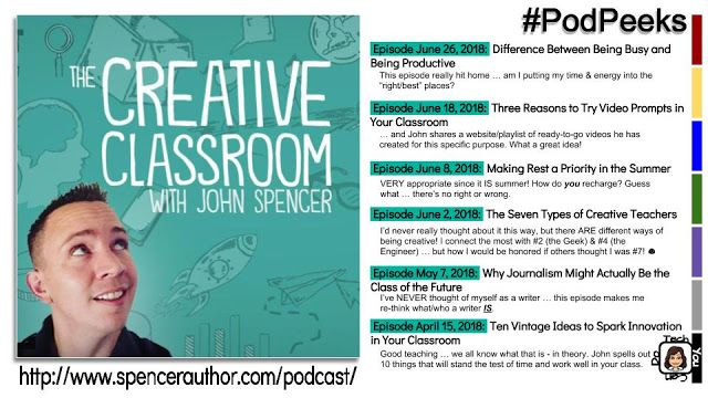 Podpeeks The Creative Classroom With John Spencer With Images
