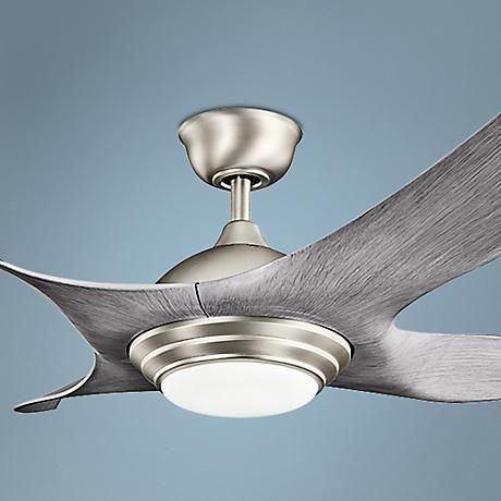 "52"" Kichler Shuriken LED Brushed Nickel Ceiling Fan"