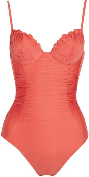La Perla Orange New Venus Ruched Swimsuit