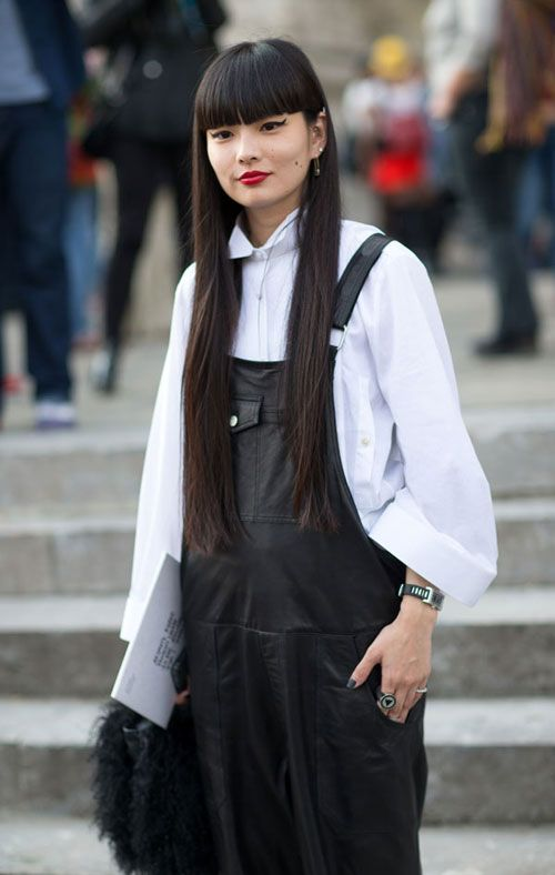 Street Style: Paris Fashion Week Spring 2014 Best overalls I've seen
