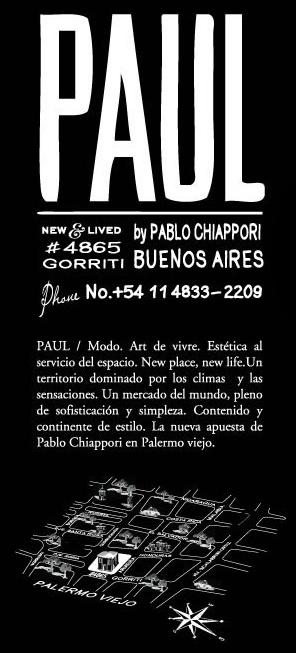 Shop @ PAUL  4865 Gorriti  Buenos Aires