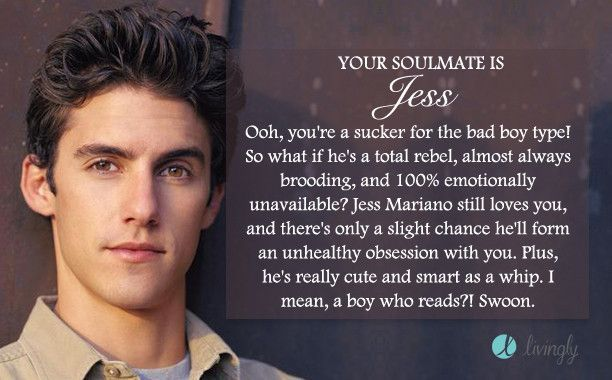 I took the Livingly 'Gilmore Girls Soulmate' quiz and got Jess. Who's yours? He's not 100% emotionally unavailable. Like, 80% maybe. lol