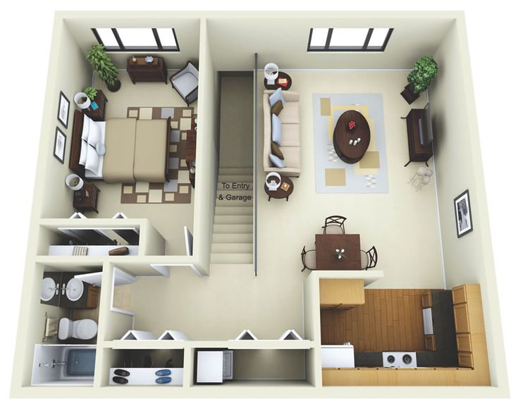 The 2 Bedroom Apartment Floor Plans Garage Above Is Used Allow The  Decoration Of Your Bedroom