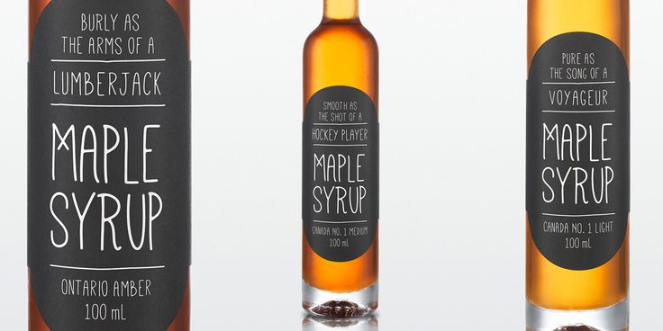 2013 Holiday Syrup Packaging