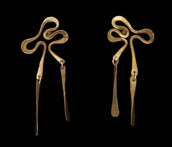 Earrings | Art Smith. 1948. Brass