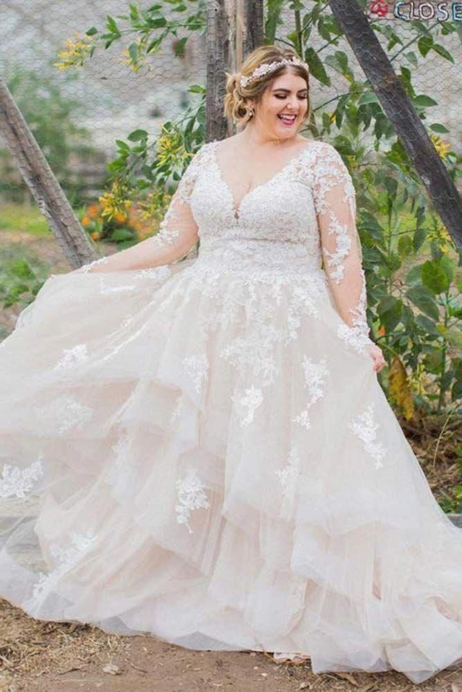 a8975d17a7c Lace Plus Size Wedding Dress With Sleeves  weddingdresswithsleeves Explore  vintage
