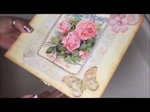 Diy:Decoracion de cajita vintage para el dia de las madres