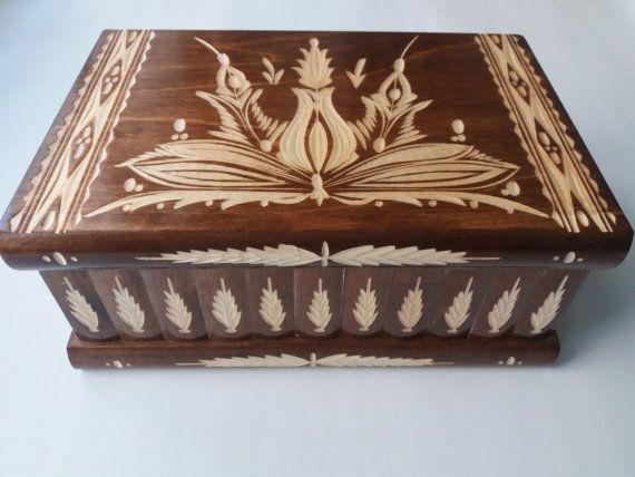 Giant big premium huge puzzle box, secret treasure box, magic box beautiful very special carved wooden jewelry storage box gift women men