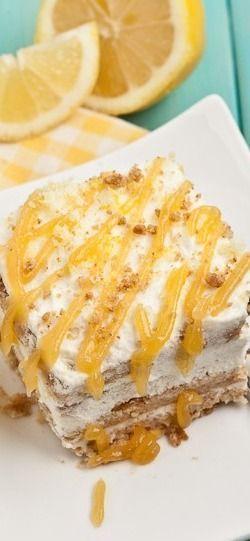 Lemon Icebox Cake (No Bake!) - Chew Out Loud
