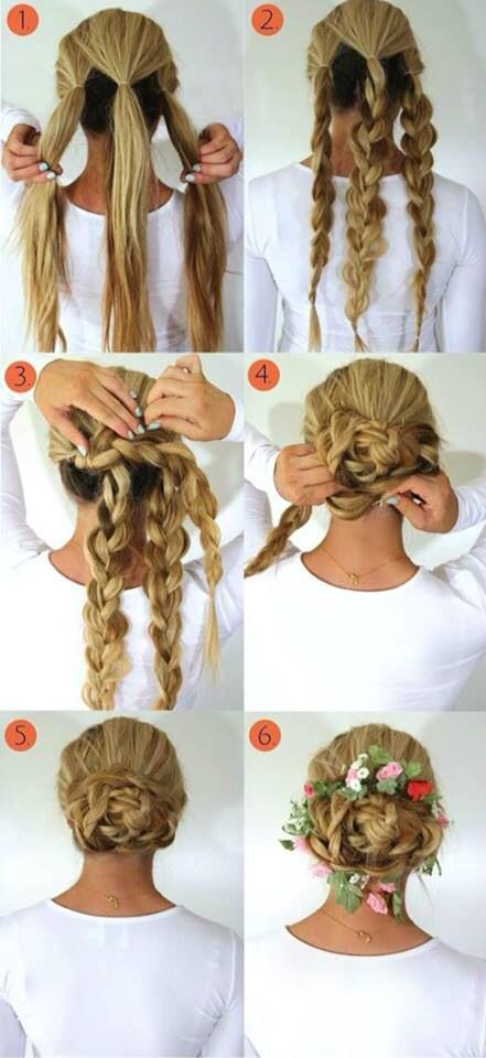 A multi use braid that you can use either by day with a casual look. Or by night and make it look elegant for a party or cocktail!