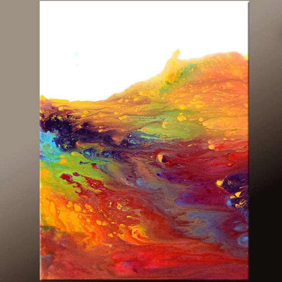 Abstract Art Painting 18x24 Contemporary Canvas Art by wostudios.  River of Dreams $75