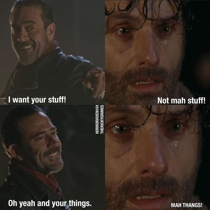 NOOOOOOOO WAY NEGAN YOU WENT TO FAR WITH THE STUFF BUT NOW YOU WANT THE THAAAAANGS TOO!?