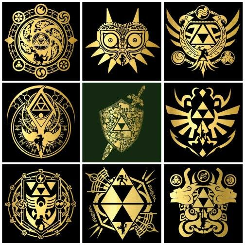 Love these Legend of Zelda designs/symbols