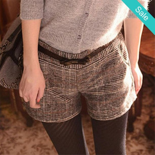 """Autumn Winter Wool Shorts -                             Material Composition: cottonFabric name: Cotton and linenWaist type: High waist  size Waist Width/ Hip Width/ Short length   M 32"""" 37.8 12""""   L 33.5 39 12.5""""   XL 35 41 13""""                            - On Sale for $19.00 (was $26.00)"""