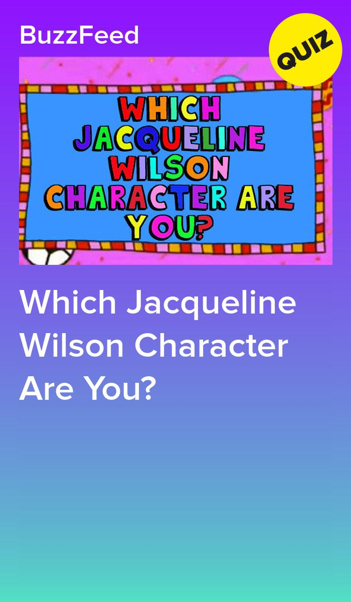 Quiz Ecologia Per Bambini which jacqueline wilson character are you? (with images