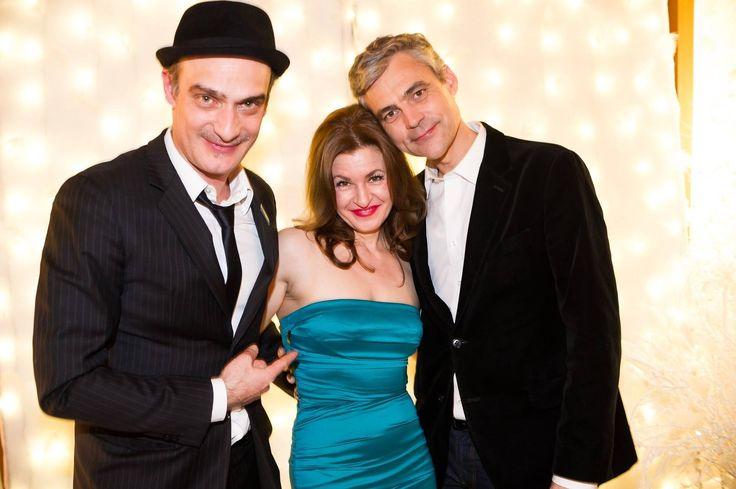Nice Night in Zurich with Stefan Leyshon & Anatole Taubmann.   My Dress: Sonja Kiefer München.