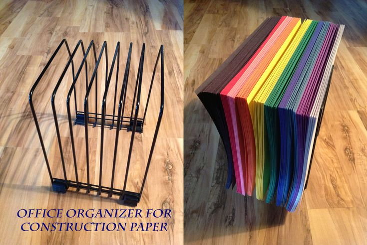 organizing construction paper - Google Search