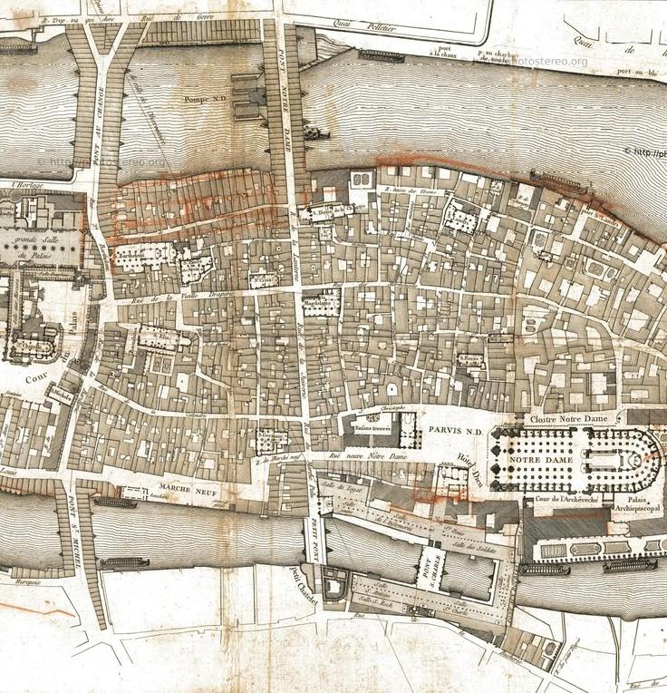 Medieval Paris Before Baron Haussmann's Transformation 2