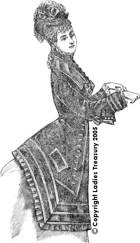 View of a Lady's Promenade Jacket, April 1876 - Free historical patterns, http://www.tudorlinks.com/treasury/freepatterns/pe187604wpromjackview.html#