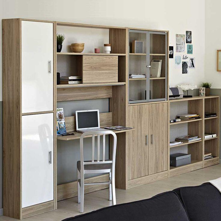 wohnwand mit pc arbeitsplatz - Hledat Googlem Obývací stěna - schlafzimmerschrank mit fernsehfach