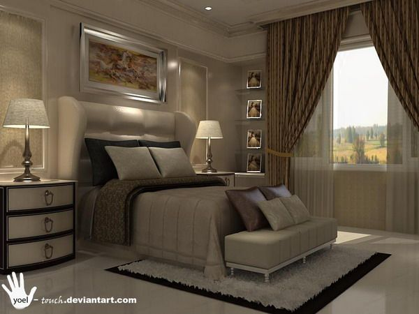 Classic Theme For Master Bedroom Design And Decoration | Home Interior  Design Part 92
