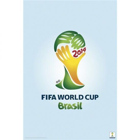 2014年ワールドカップブラジル サッカー オフィシャル [officially licensed] エンブレム ポスター