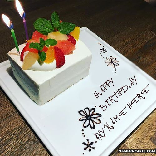Cake With Fruit Names : 1000+ images about HBD Cake on Pinterest Birthday cake ...