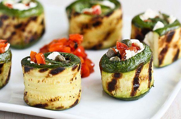 Rotolini di zucchine con formaggio fresco di capra
