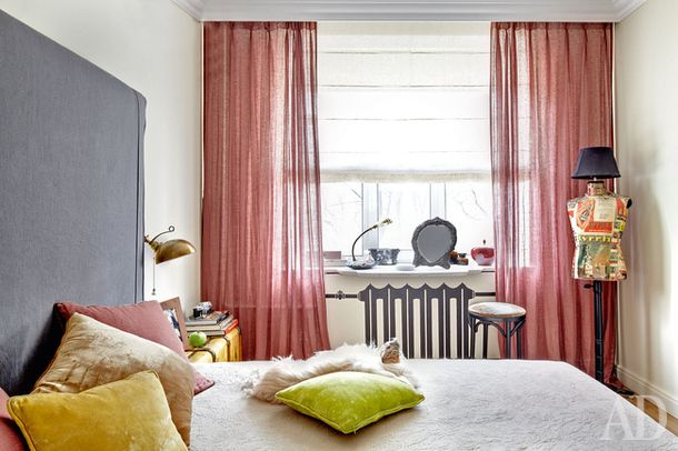 red, yellow, white - bedroom