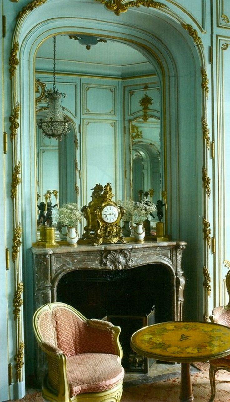 Private apartment at Chateau de Chalais, Musée Jacquemart André, Paris. World of Interiors September, 2011.
