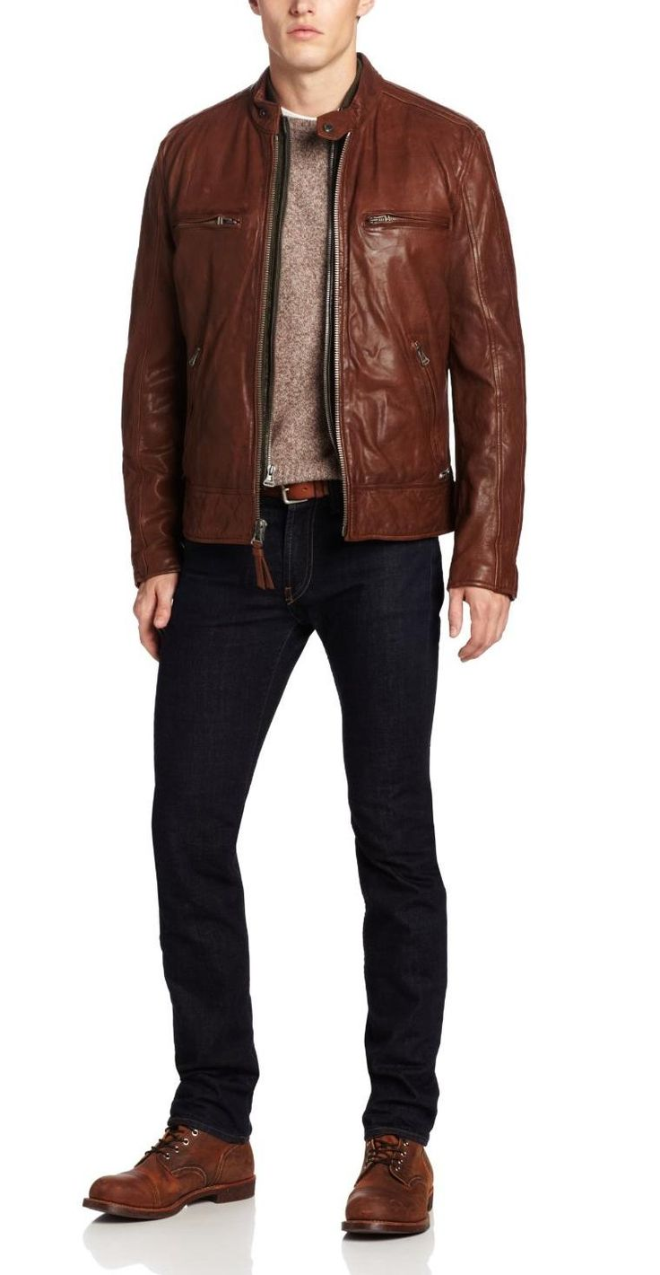 Mens Designer Leather Jacket images