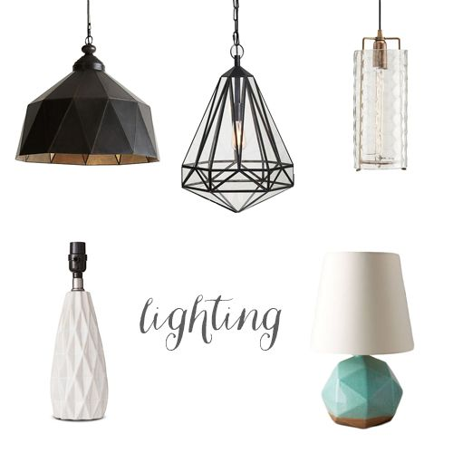 faceted lighting!