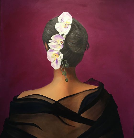 Hon har blommor i sitt hår av Tina Perborn