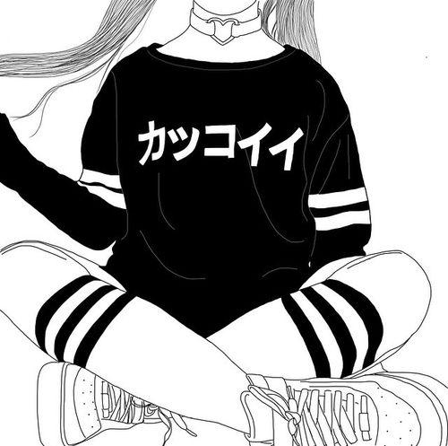 art, noir et blanc, dessiné, dessin, fille, grunge, gothique au pastel                                                                                                                                                                                 Plus