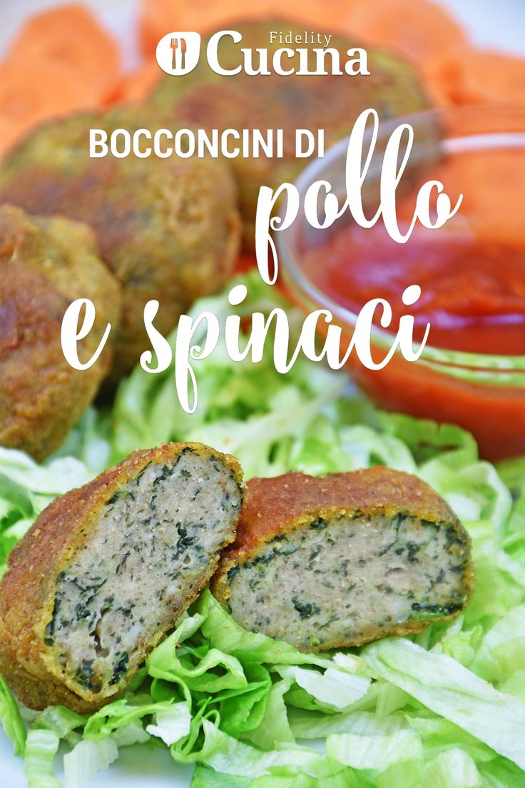 I bocconcini di #pollo e #spinaci sono un secondo piatto sfizioso, ottimo anche per i più piccoli o per una cena tra amici. Ecco la videoricetta