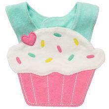 Terry Cupcake Teething Bib