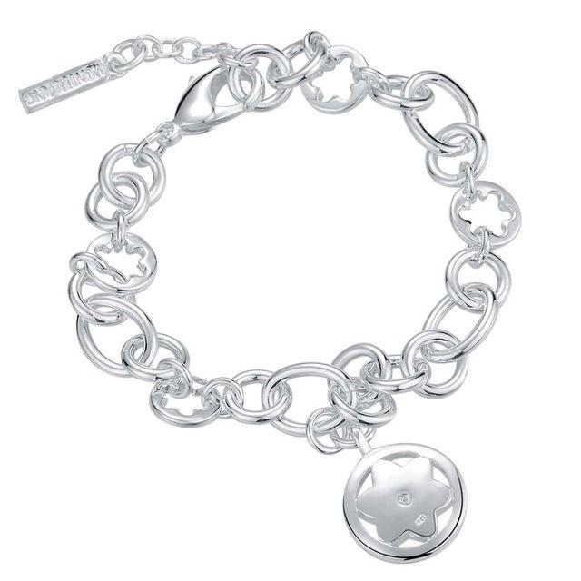 2016 Новая Серебряная Звезда Кулон Браслет Ювелирные Изделия свадебный подарок для женщины Высокое качество AB106