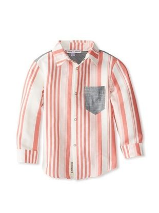 50% OFF neve/hawk Kid's The Gadsen Button-Up (Red/White Stripe)
