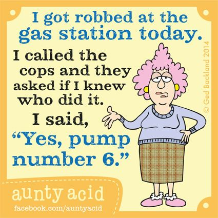 Aunty Acid's TOP FIVE hilarious thoughts on MOTORING