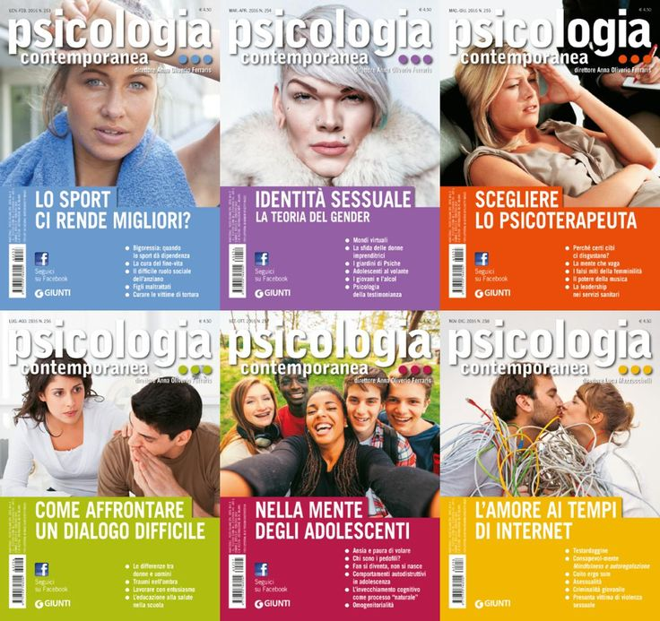 Psicologia Contemporanea - 2016 Full Year Issues Collection