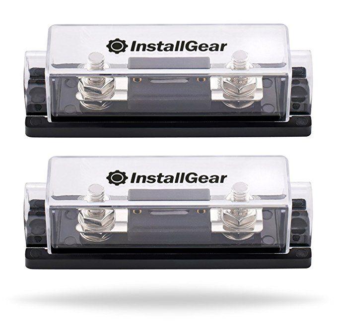 Installgear 0 2 4 Gauge Ga Anl Fuse Holder 250 Amp Anl Fuses 2 Pack Car Audio Electrical Stores Fuses