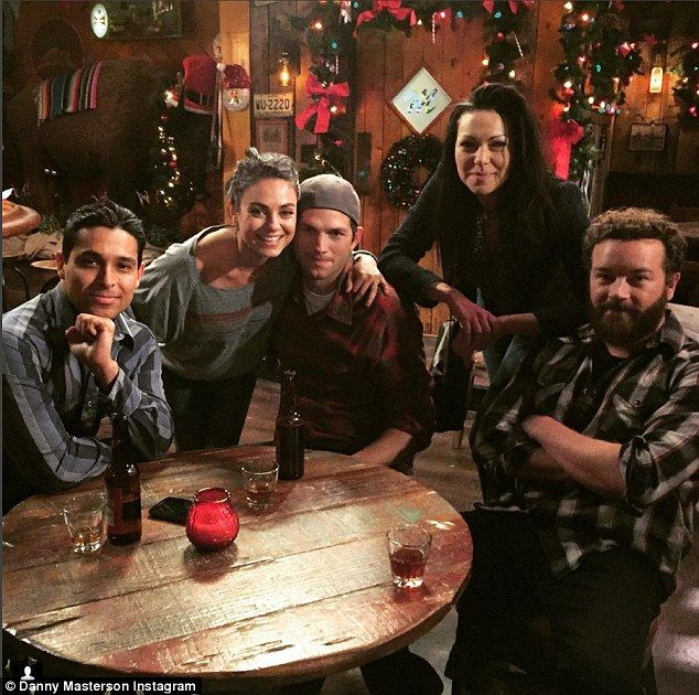 Blast from the past: That '70s Show stars Ashton Kutcher and Danny Masterson had a mini re...
