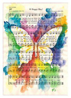 Watercolor Tattoo Music on Pinterest