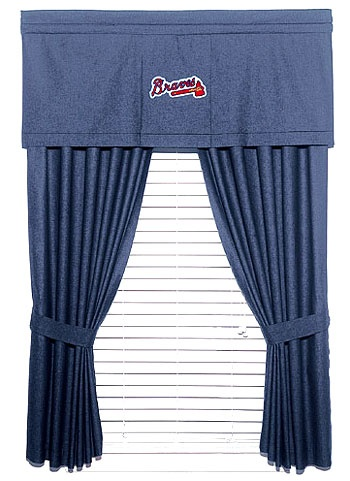 Baseball Curtains To Go With The Theme