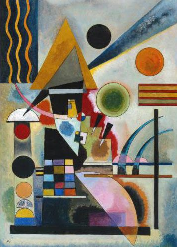 Pintor Wassily Kandinsky.  Cuadro.  Balanceo.  1,925 año